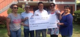 एनआरएनए मकाउद्वारा भूकम्प पीडितका लागि ४० लाख रुपैयाँ प्रदान