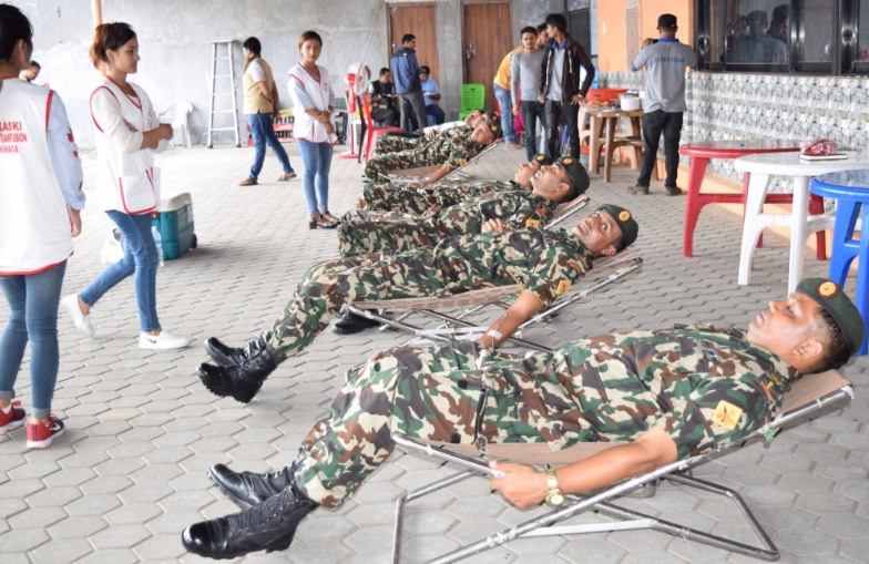 blood donation by nepal army