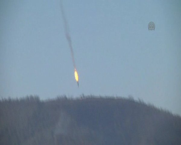 russian plane shot sown