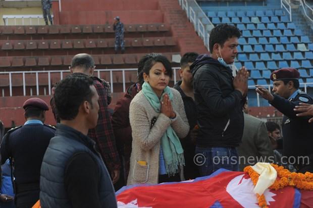 Koirala dead body at stadium (10)