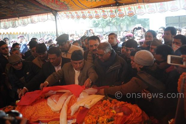 Koirala dead body at stadium (2)