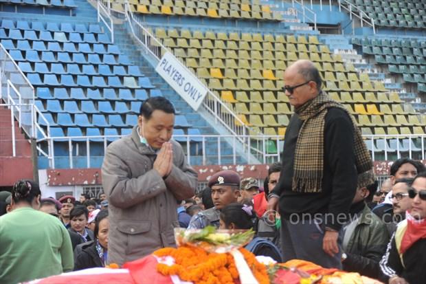 Koirala dead body at stadium (3)