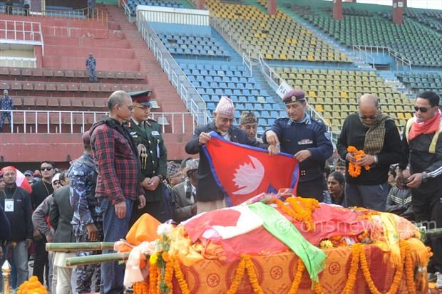 Koirala dead body at stadium (5)