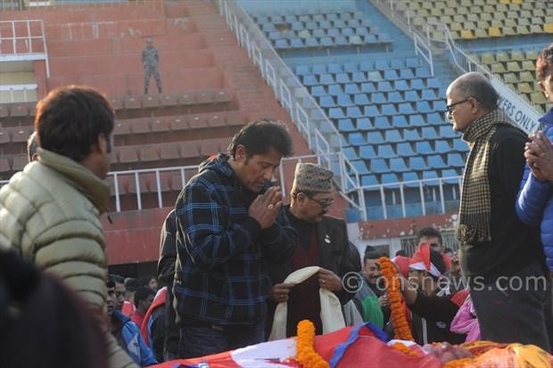 Koirala dead body at stadium (8)