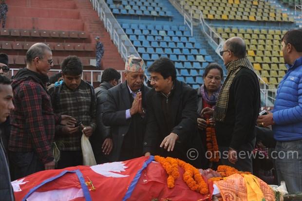 Koirala dead body at stadium (9)