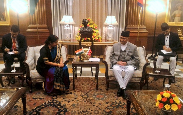 kp oli and susma swaraj