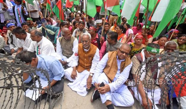 Madhesi protest against Govt at Singhdurbar1